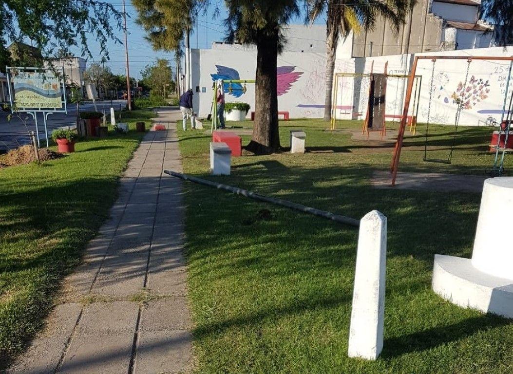 Luminarias led plaza augusto barrirero 1