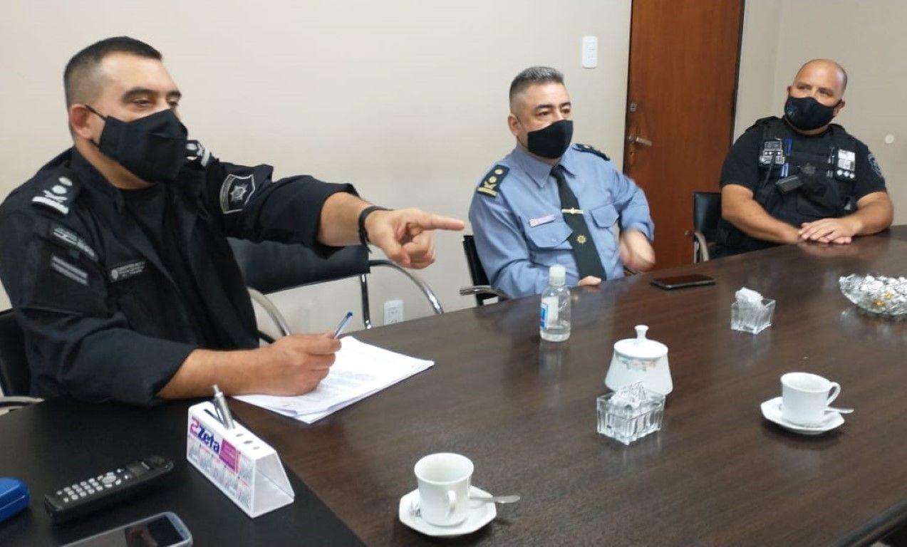 Reunión Jefe y Sub Jefe de policía con Intendente 2