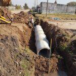 Cambio de tubos de alcantarilla en esquina de San Lorenzo y 9 de Julio